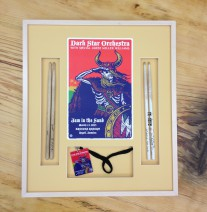 Shadow box framing for rock & roll memorabilia
